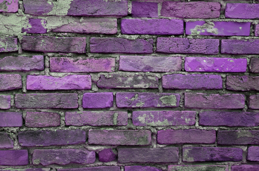 PURPLE BRICKS ARE FALLING DOWN